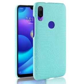Shockproof Crocodile Texture PC + PU Case for Xiaomi Redmi Note 7 (Green)