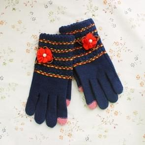 2 Pack Ms. Touch Knit Gloves (Colour: Blue)