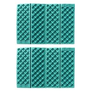 2 PCS Portable Folding Mobile Cellular Massage Cushion Outdoors Damp Proof Picnic Seat Mats EVA Pad(Green)