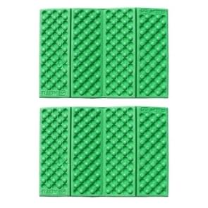 2 PCS Portable Folding Mobile Cellular Massage Cushion Outdoors Damp Proof Picnic Seat Mats EVA Pad(Light Green)