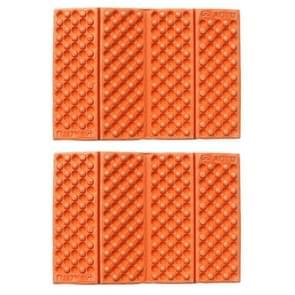 2 PCS Portable Folding Mobile Cellular Massage Cushion Outdoors Damp Proof Picnic Seat Mats EVA Pad(Orange)