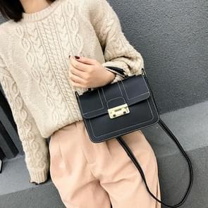 Casual Small Square Bag Cross Body Handbags Trendy Bags (Black)