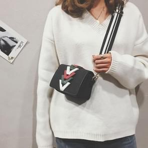 Fashion Small Square Bag Casual Shoulder Bag Ladies Handbag (Black)
