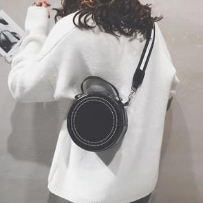 Fashion Multi-function Small Round Bag Messenger Bag Girl Shoulder Bag (Black)