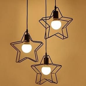YWXLight moderne lampen licht ijzer LED kroonluchter woonkamer slaapkamer keuken Lamp vijf-puntige ster creatieve 360 graden roterende kroonluchter (Warm wit)