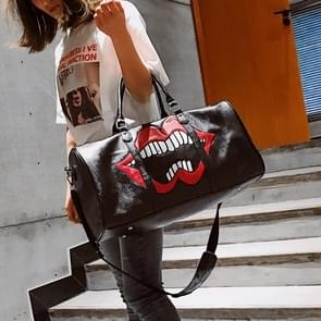 Red Lips PU Leather Travel Handbags Casual Shoulder Bag