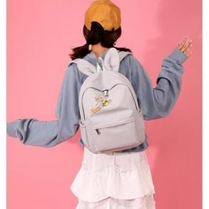Cute Bunny Ear Backpack Waterproof Girl Backpack with Chinese Character Handbag