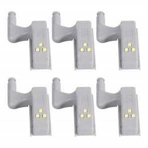 YWXLight LED nacht verlichting creatieve kabinet lichten garderobe kast deur scharnier nachtverlichting (6PCS)