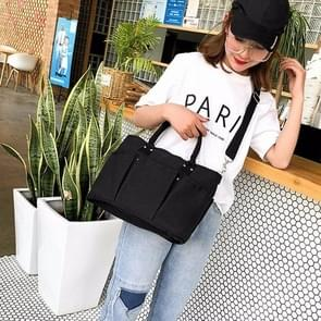 Canvas schouder Travel Bag recreatieve Sport handtas (zwart)