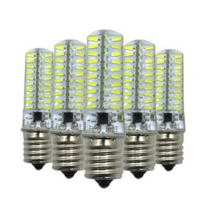 5PCS YWXLight E17 5W 80LEDs SMD 4014 Energy Saving LED Silicone Lamp (Cold White)
