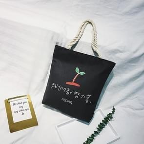 Canvas schoudertas dames handtas tassen (spruit patroon)