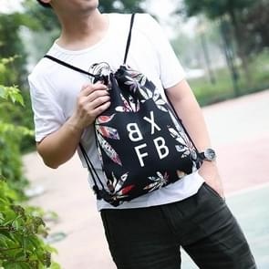Printing Plant Drawstring Double Shoulders Sports Backpack Bag (Pattern 1)