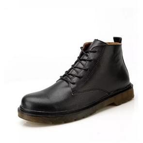 Retro Casual Lace-up Fashion Business Man Shoes(Color:Black Size:39)