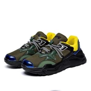 Color Matching Trend Outdoor Sport Casual Shoes for Men (Color:Army Green Size:40)