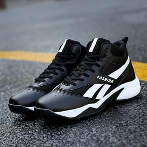 Wear-resistant High-top Fashion Casual Shoes for Men (Color:Black Size:39)