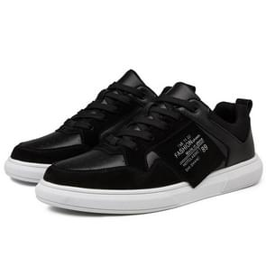Youth Microfiber Leather Fashion Outdoor Sport Shoes for Men (Color:Black Size:39)