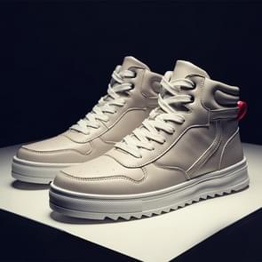 Trend High-top Outdoor Casual Shoes for Men (Color:Beige Size:39)