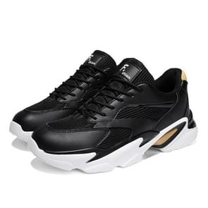 Fashion Round Head Casual Outdoor Sport Running Shoes for Men (Color:Black Size:44)