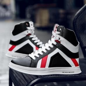 Fashion Youth High-top Sports Casual Shoes for Men (Color:Black Size:41)