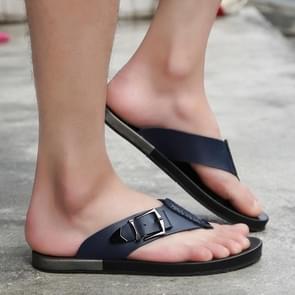 Summer Fashion PU Lightweight Flip-flops (Color:Blue Size:40)