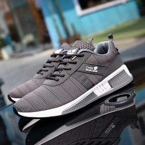 Outdoor Comfortable and Breathable Flying Woven Casual Shoes (Color:Grey Size:39)