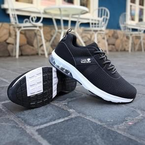 Casual Outdoor Flying Woven Cushion Shoes for Men (Color:Black Size:39)