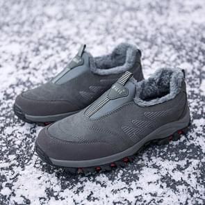 Round Head Suede Comfortable Warm Shoes (Color:Black Size:42)