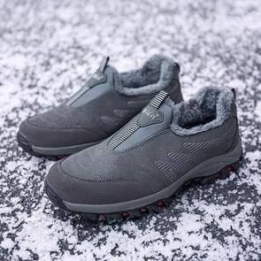 Round Head Suede Comfortable Warm Shoes (Color:Black Size:43)