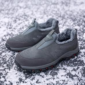 Round Head Suede Comfortable Warm Shoes (Color:Black Size:44)