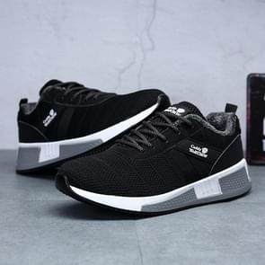 Fashion Casual Flying Woven Mesh Shoes for Men (Color:Black Size:38)