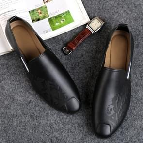 Soft and Comfortable Pointed Leather Shoes for Men (Color:Black Size:38)