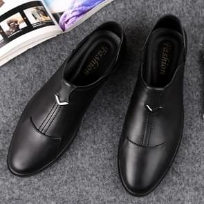 Soft and Comfortable Outdoor Casual Leather Shoes for Men (Color:Black Size:37)