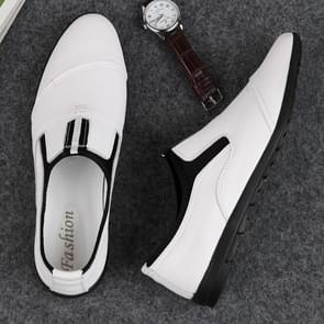 Fashion Comfortable Top Layer Cowhide Shoes for Men (Color:White Size:39)
