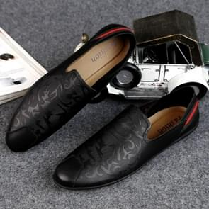 Fashion Comfortable Peas Shoes Casual Leather Shoes for Men (Color:Black Size:41)