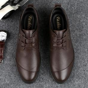 Fashion Embossed Decorative Comfortable Breathable Leather Shoes for Men (Color:Brown Size:46)