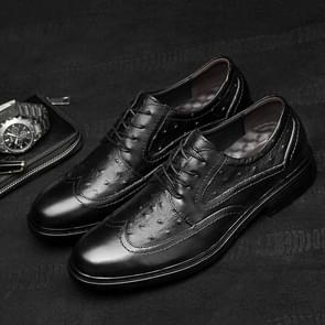 Fashion Comfortable and Temperament Wear Resistant Casual Shoes Dress Shoes for Men (Color:Black Size:44)