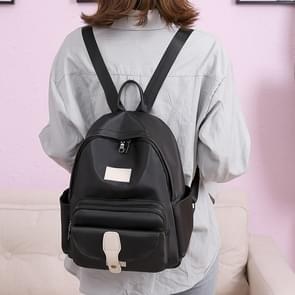 Fashion Oxford Double Shoulders Bag Ladies Backpack Handbag (Black)