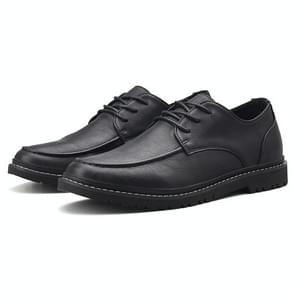 Round Head Flat Heel Comfortable Casual Shoes for Men (Color:Black Size:39)