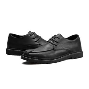 Round Head Comfortable Casual Shoes for Men (Color:Black Size:39)