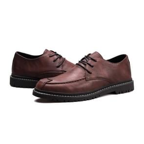 Round Head Comfortable Casual Shoes for Men (Color:Brown Size:42)