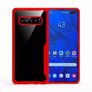 Transparent PC + TPU Full Coverage Shockproof Protective Case for Galaxy S10 (Red)