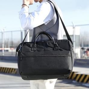Grote capaciteit Business en Leisure Travel Bag rugzak mannen en vrouwen handtas Schoudertas (zwart)