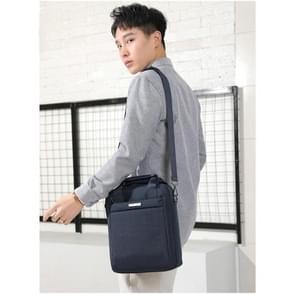 Business Casual reistas mannen schoudertas handtas Messenger Bag (zwart)