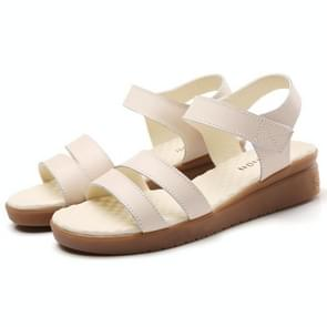 Simple Comfortable Soft Sandals for Woman (Color:Beige Size:36)