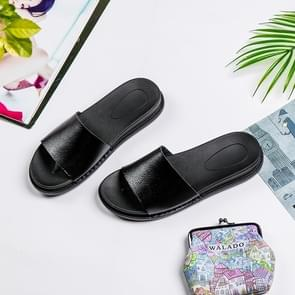 Simple Fashion Comfortable Lightweight Slippers for Woman (Color:Black Size:38)