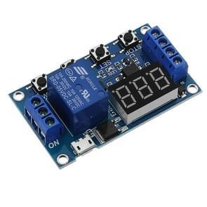 LDTR-WG0199 DC 6V tot 30V een manier relay module delay Power off ontkoppeling trigger vertraging cyclus timer circuit switch (blauw)