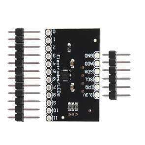 LDTR-WG0208 MPR121-breakout-V12 proximity Capacitieve Touch sensor controller keyboard ontwikkeling Board (zwart)