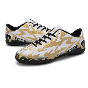 Couple Broken Nails Adult Children Soccer Shoes (Color:White Size:43)