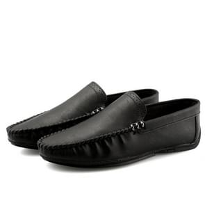 Retro Fashion Round Head Lightweight and Comfortable Casual Shoes for Men (Color:Black Size:39)
