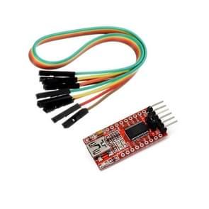 LDTR-WG0226 FT232RL FTDI USB naar TTL seriële converter adapter module voor Arduino (rood)